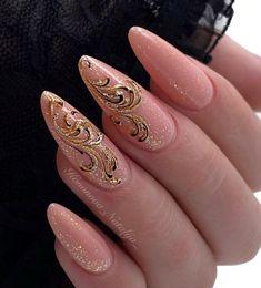 Nail Art Designs Videos, Blue Nail Designs, Simple Nail Designs, Gliter Nails, Tan Nails, Diy Acrylic Nails, Nail Jewels, Nagellack Design, Bride Nails