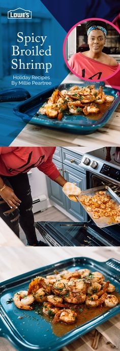 Give your holiday table some spice with Chef Millie Peartree's Spicy Broiled Shrimp made with help from Samsung!
