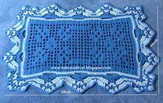 Estes tapetes em croche de barbante são dos meus favoritos, embora tenha feitos outros que curto muito mais. Formam um conjunto para...