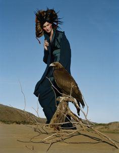 KIRSI PYRHONEN,  OUTER MONGOLIA, 2011  BRITISH VOGUE  By Tim Walker