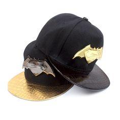 2016 New Batman Superman Snap Back Snapback Caps Hat Cool Gorras Super Man  Bone Hip Hop Baseball Cap Hats For Men Women Gorro 7fd8715b1d48