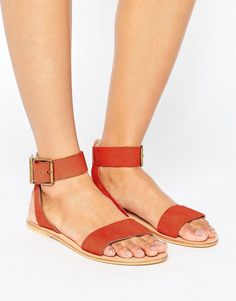 c7d02aaaf2b Get this Asos s leather sandals now! Click for more details. Worldwide  shipping. ASOS