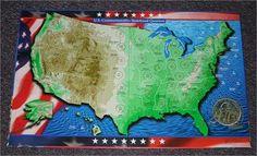 11 Best State Quarter Maps images | Blue prints, Cards, Coins