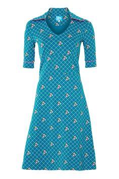 Tante Betsy Dress Collar Petrol