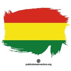 PublicDomainVectors.org-Vector flag of Bolivia, painted on white surface.