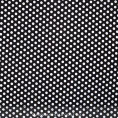 Happy Dots - Kiss Dot Black Yardage - Michael Miller Fabrics - Michael Miller