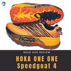Learn our thoughts on the HOKA ONE ONE Speedgoat 4, a highly cushioned trail shoe for anything from conquering mountain peaks to marathon racing. - Shop with Free Shipping and Free Returns at Running Warehouse! - #run #runner #running #nike #justdoit #short #trail #outside #outdoors #mountain #gym #workout #training #health #fitness #best #top #newbalance #marathon #ultra #altra #hoka #arc'teryx #patagonia #trail Trail Shoes, Trail Running Shoes, Ultra Marathon, Running Shoe Reviews, Wide Feet, How To Run Longer, Patagonia, The One, Warehouse