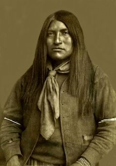 Sergeant Rowdy, who received a Medal of Honor, and who killed Pas-lau-tau, March 11, 1890. Photo was taken ca. 1886.   Apache Wars