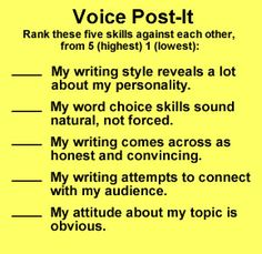 WritingFix: A variety of Resources and Lessons on the skills associated with 'Voice.'