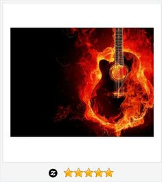 Burning #Guitar Flames #Music #Postcard #JustSold #ThankYou :) https://www.zazzle.com/burning_guitar_orange_flames_music_rock_band_postcard-239739713072901873
