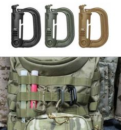 50X D-Ring Buckles Hook Plastic Multiuse Durable Tactical Backpack Strap Webbing