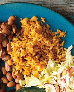 Tomato paste gives plain white rice a rusty hue in this classic Latin side dish.