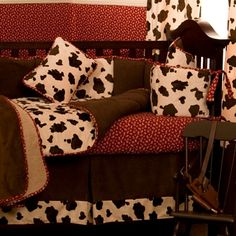 Western Cowboy Baby Bedding Brown Cow Love Pinterest Sets And Cribs