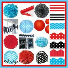 red turquoise classroom theme decor by Schoolgirl Style www.schoolgirlstyle.com