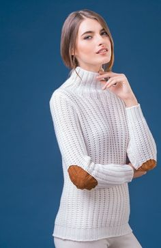 Negri Firenze - Cashmere sweater with patches