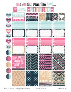 #free #planner #printable #stickers #tribal