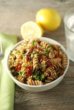 Spinach and Sun-Dried Tomato Pasta - Real Mom Nutrition