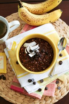 Choco-Banana Overnight Oats - The Healthy Foodie