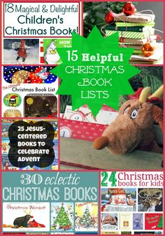 15 Christmas Book Lists for Advent Inspiration! If you are looking for new Christmas Countdown books for your little people, this is a great place to start!