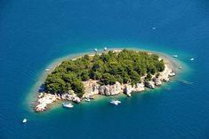 Small island in Pirovac bay, Croatia