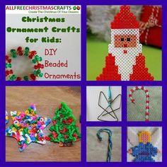 Get the kids involved in decorating for Christmas this year with these Perler bead ideas and other DIY beaded ornament crafts. In this collection, Christmas Ornament Crafts for Kids 10 DIY Beaded Ornaments, we have great Christmas ornament crafts. Easy Christmas Ornaments, Christmas Decorations For Kids, Christmas Cover, Christmas Ideas, Merry Christmas, Christmas Drawing, Beaded Ornaments, Holiday Crafts, Diy And Crafts