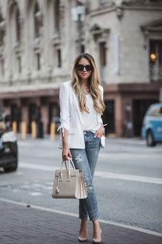 How to Wear a Blazer with Jeans | The Teacher Diva: a Dallas Fashion Blog featuring Beauty & Lifestyle