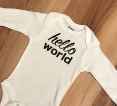 ca2cc227ca2f Hello World newborn onesie  11 - take home outfit - going home outfit - baby  boy