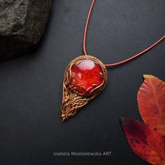 Polymer Clay Jewelry, Autumn Leaves, Handmade Jewelry, Copper, Pendant Necklace, Red, Fall Leaves, Handmade Jewellery, Autumn Leaf Color
