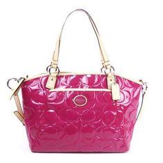 Coach 20028 Peyton Patent Leather Embossed Pocket Tote Handbag Magenta and Tan Coach,http://www.amazon.com/dp/B00CBMAH58/ref=cm_sw_r_pi_dp_aCQIrb8F92494F98