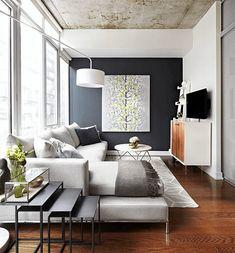 6 ambientes e diversos princípios do design e decoração