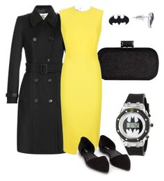 """My Tribute to Batman"" by dancingwdaleks on Polyvore featuring Burberry, Victoria Beckham and Nly Shoes"