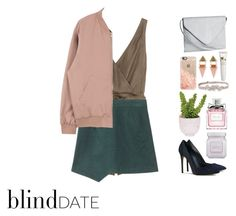 """""""Blind Date"""" by itsmytimetoshinecoco ❤ liked on Polyvore featuring 3.1 Phillip Lim, H&M, Lux-Art Silks, Laura Mercier, Christian Dior, Casetify, BCBGMAXAZRIA, Origins, women's clothing and women"""