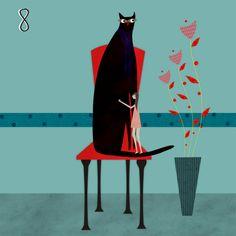 big black cat. thereza rowe