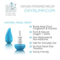 Natural Nasal Spray   #bumpaway #bumpit #nasalspray #nonmedicated #oxybump #target #itreallyworks #benefits #allergyrelief #sinuscongestion #sinuses Sinus Congestion Relief, Health Products, Pure Products, Allergy Relief, Homeopathic Remedies, Essential Oils, Projects To Try, Health Foods, Essential Oil Uses