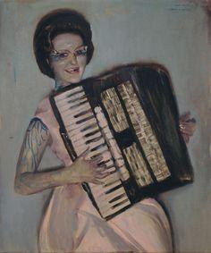alexander tinei, Music teacher. 2009. 120 x 100cm. Oil on canvas