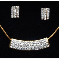 CZ studded duel tone white and gold plated pendent set - Online Shopping for Necklaces by Ami Designs