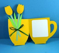 3 Eco-Friendly Tea Cup Cards by She's Batty by shesbattydesigns