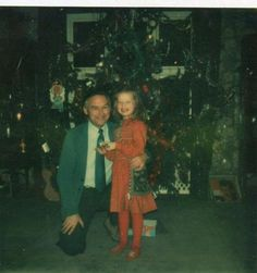 Jimmy's daughter Scarlet Page with her grandpa James Page at Christmas.