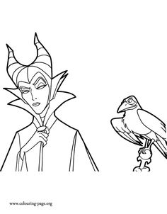 Diablo Is Maleficents Pet Raven What About To Print And Color This Amazing Maleficent Coloring Page Enjoy