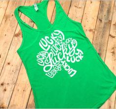 c45d982a St. Patricks Day Shirt, St Pattys Day, Four Leaf Clover, Green Shirt,  Shamrock Tank top, Lucky Clover, Plus Size Workout, XXL, ID14W