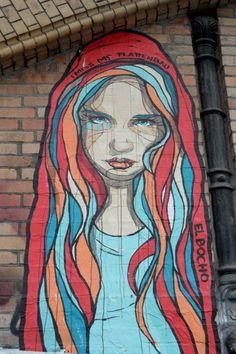 Street Art in Berlin, El Bocho - Girl 2 #streetart