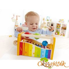 Pound the 3 wood balls; listen as they roll down the xylophone; Pull out the xylophone for fun with rhythms and beats. Winner of Parent's Magazine Best Toy Award . Ages 12 months to 3 years. Wooden Baby Toys, Wood Toys, Musical Toys For Kids, Hape Toys, Toy Musical Instruments, Fine Motor Skills Development, Toys For 1 Year Old, Hapkido, Wooden Puzzles