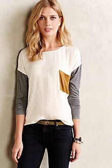 Colorclocked Pocket Top in Moss $68