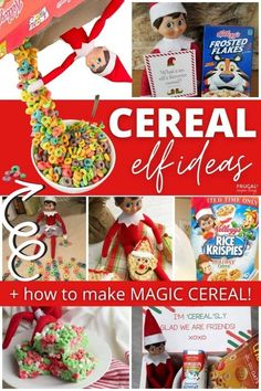 Cereal is such a fun Elf on the Shelf prop. Have fun with these funny Elf on a Shelf ideas using cereal as well as this really cool elf pouring magical cereal box. How to make this fun Elf on the Shelf Cereal Trick in 30 minutes using pipe cleaners and hot glue. Keep it low cost with Dollar Tree Elf on the Shelf props & supplies. #FrugalCouponLiving #ElfontheShelf #ElfontheShelfIdeas #ElfIdeas #funnyelfideas #funnyelfontheshelf #ElfonaShelf #ScoutElfIdeas Dollar Tree Elves, Elves At Play, How To Make Magic, Rice Krispies, Frugal Living, Elf On The Shelf, Christmas Holidays, Cereal, Pipe Cleaners