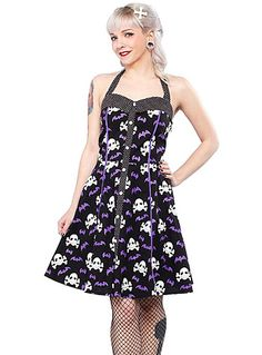Psychobilly Style Inspiration - Bats 'N Bones Dress By shopplasticland.com