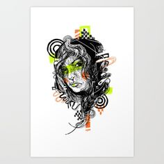 Check out society6curated.com for more! @society6 #illustration #wall #apartment #decor #homedecor #buy #shop #sale #shopping #apartmentgoals #sophomoreyear #sophomore #year #college #student #home #house #gift #idea #art #prints #drawing #green #orange #blackandwhite #black #white