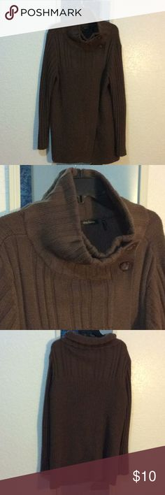 Sweater Brown wrap, button top sweater Daisy Fuentes Sweaters Cardigans
