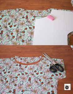 Come fare una blusa: guida passo passo! · Pane, Amore e Creatività Sewing Hacks, Sewing Tutorials, Sewing Crafts, Sewing Projects, Sewing Patterns Free, Free Pattern, No Sew Refashion, Crochet Blanket Patterns, Diy Clothes