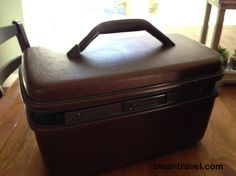 Brown Samsonite Travel Luggage Make Up case small hard side - http://oleantravel.com/brown-samsonite-travel-luggage-make-up-case-small-hard-side