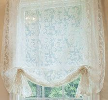 "Sheer Damask London Shade with Gilded Cornice | ""Her"" Closet 